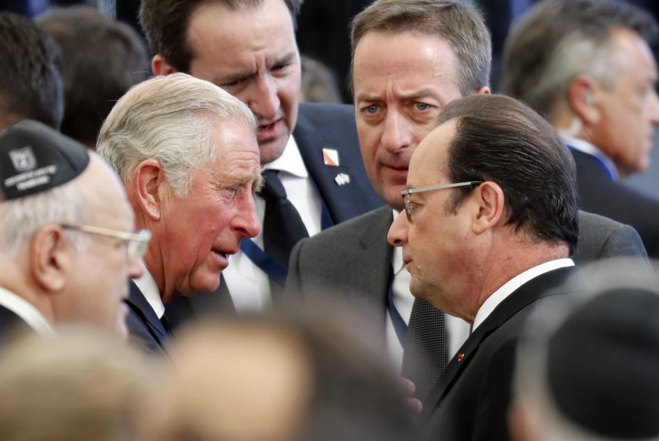 הנסיך צ'ארלס בעת שהותו בישראל (AFP)