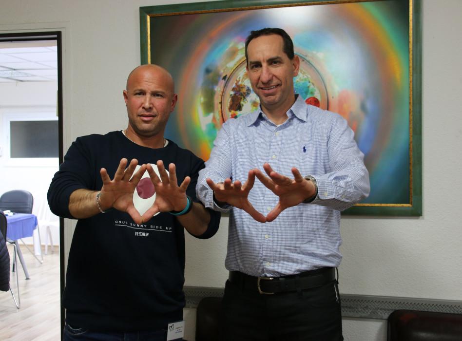 אורי אלון וניר ברונשטיין (צילום: ניב הורוביץ)
