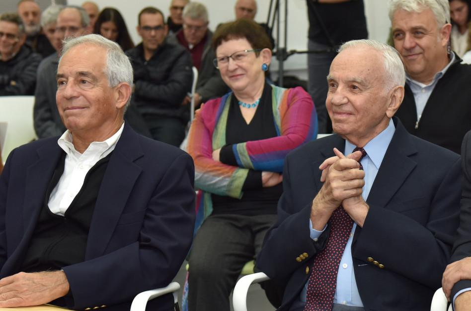 מורט מנדל ויהודה ריינהרץ (צילום: שלומי אמסלם)