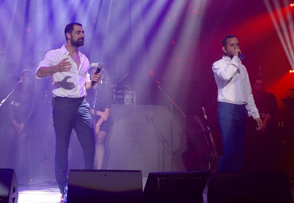 מעולם לא היו רק שניהם על הבמה. אסי ישראלוף וציון ברוך (צילום: אלוני מור)