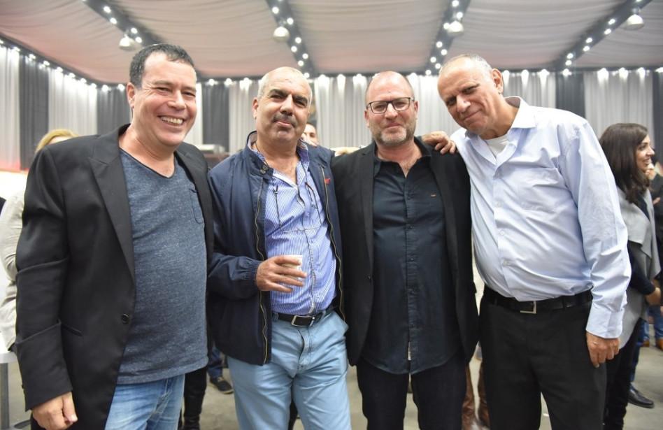 """דב מורן, פז הירשמן, סאמי סעדי וינקי מרגלית (צילום: יח""""צ)"""