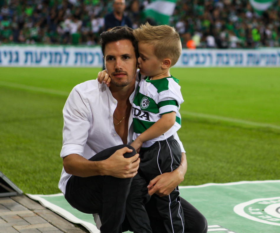 ינאי ורוי בטקס מיוחד לכבוד אמיר שערכה מכבי חיפה (צילום: אורטל דהן זיו)