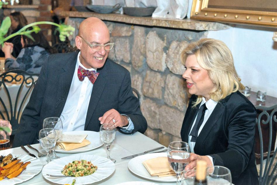 עם שרה נתניהו (צילום:  מרינה וסרמן סמסון)