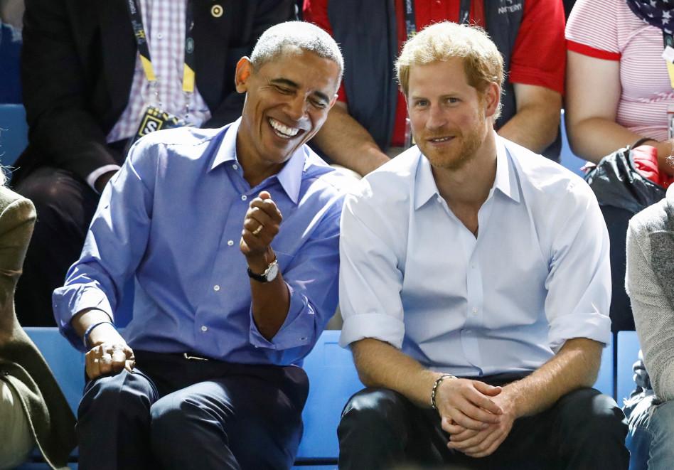 הנסיך הארי וברק אובמה (צילום: רויטרס)