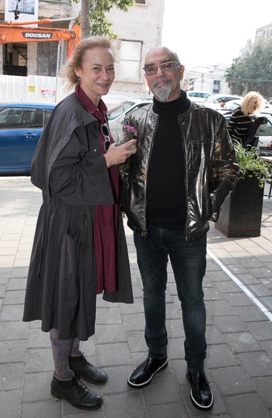 ישראל אהרוני ושרי אנסקי (צילום: שי נייבורג)