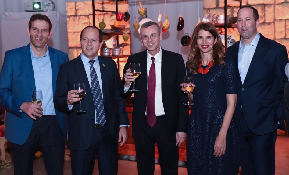 אייל חיימובסקי, אילנית מלכיאור, יריב לוין, ניר ברקת ואמיר הלוי (צילום:נועם מורנו))