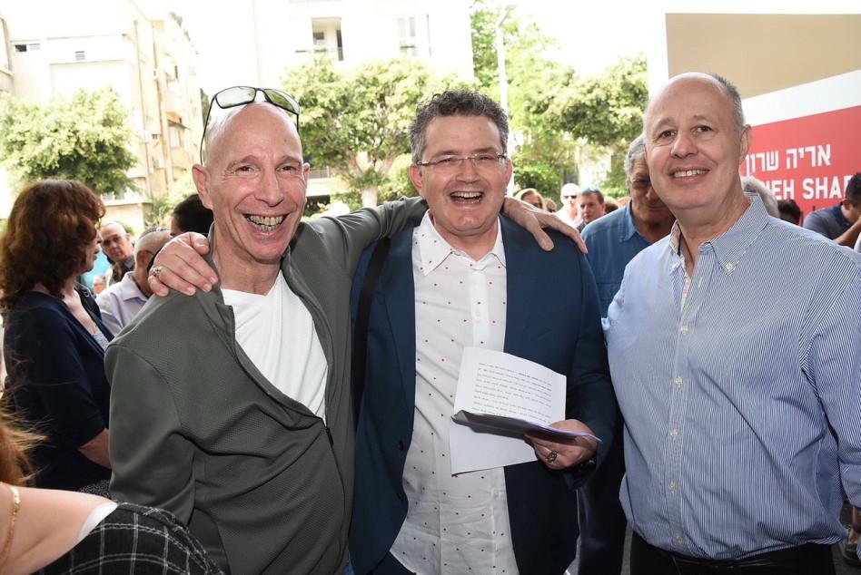 צחי הנגבי, אדר שרון ולוני הרציקוביץ (צילום: אביב חופי)
