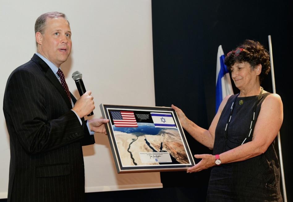 מיה הלוי וג'ים ברידנסטין (צילום: אבי חיון)