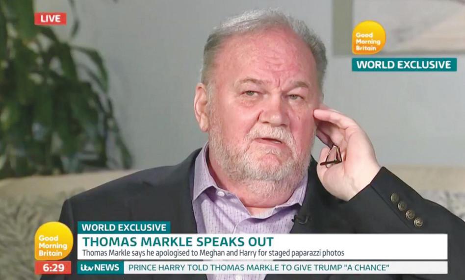 תומס מרקל בראיון לטלוויזיה הבריטית (צילום: צילום מסך טוויטר)