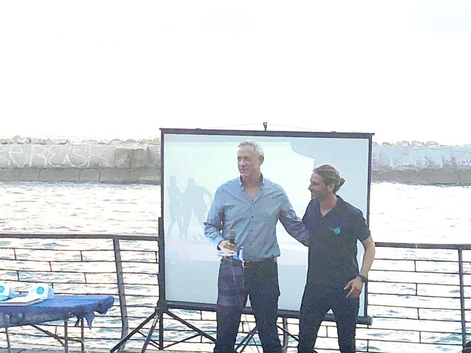ירון וקסמן ובני גנץ (צילום: באדיבות עמותת הגל שלי)