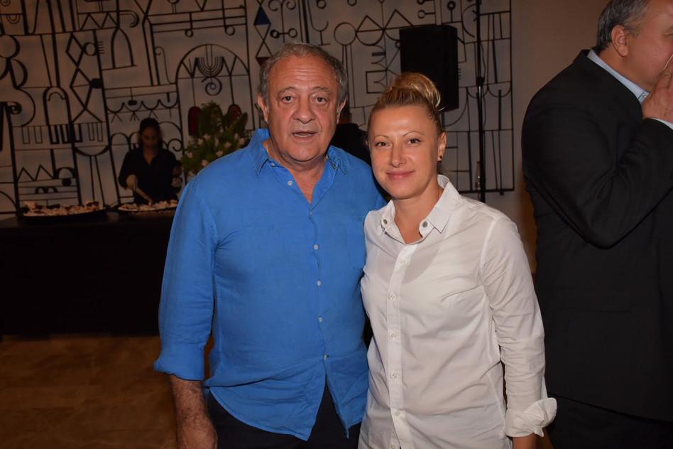 מריה קוזנצובה וראובן אבלגון (צילום: אביב חופי)