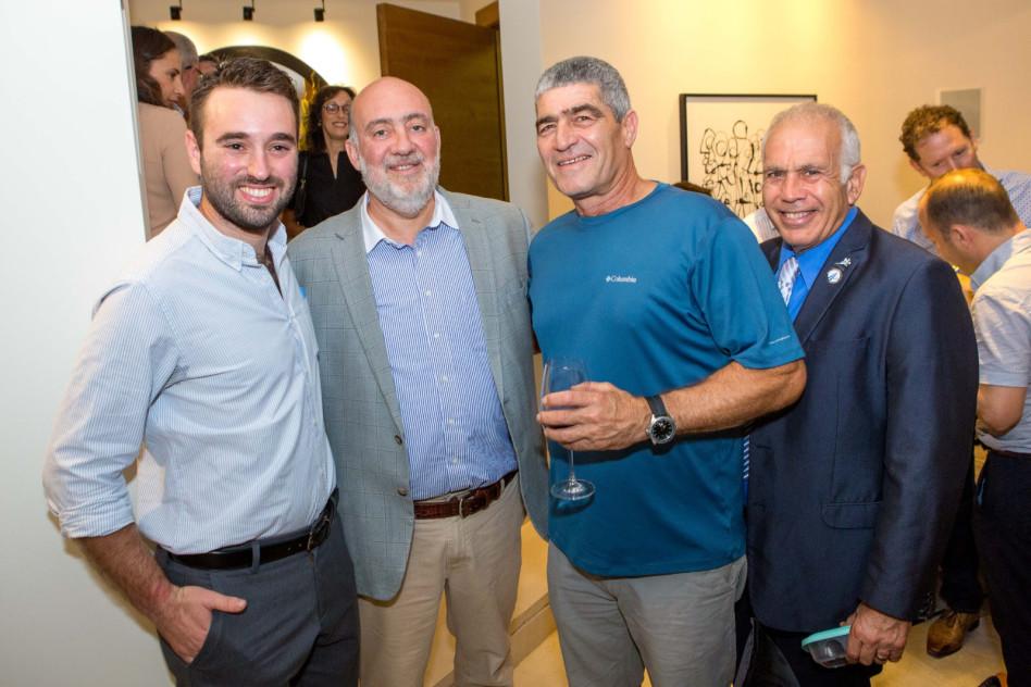 דני גרוסמן, טל רוסו, רון פרושור ואייל בירם (צילום: טוהר לב)
