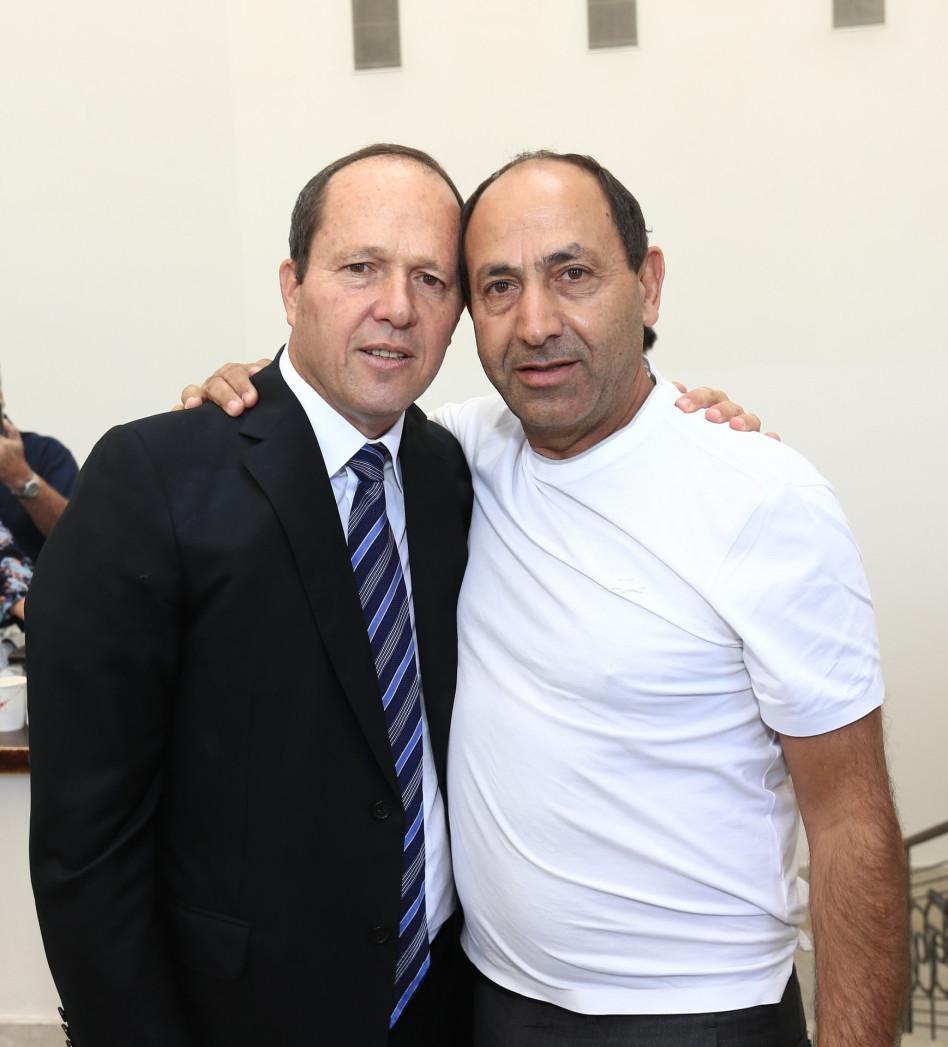 רמי לוי וניר ברקת (צילום: פביאן קלדרוף)