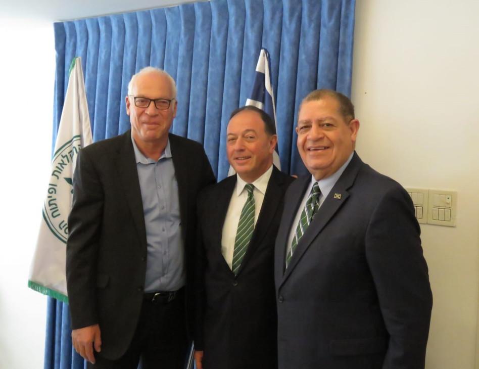 אודלי שו, גדעון סיטרמן ואורי אריאל (צילום: באדיבות דוברות שר החקלאות ופיתוח הכפר )