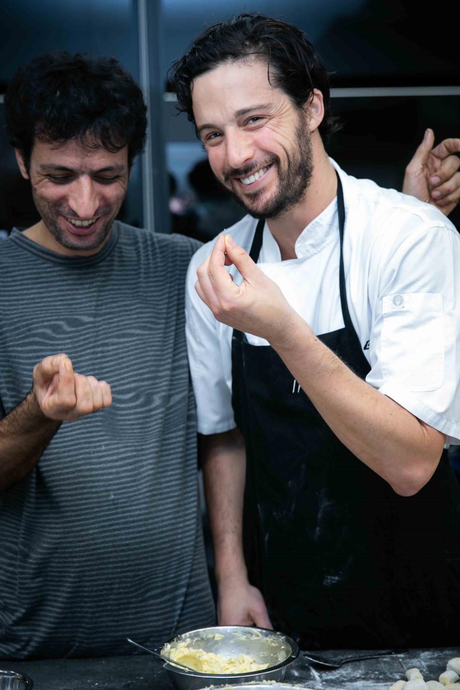 אודי ברקן וערן זינו (צילום: אלישע גדז')