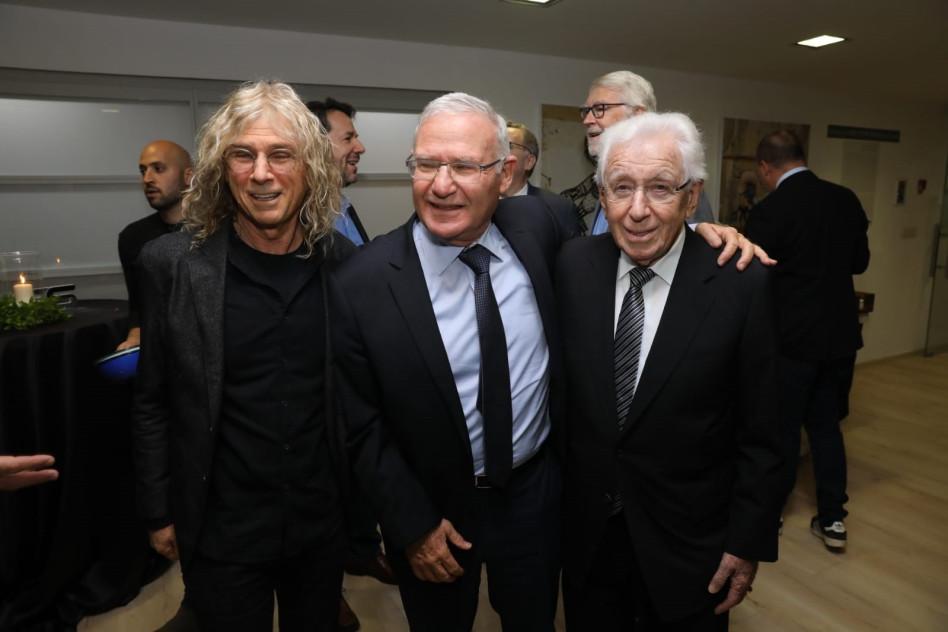 פרנק לואי, עמוס ידלין ודיויד לואי (צילום: חן גלילי)