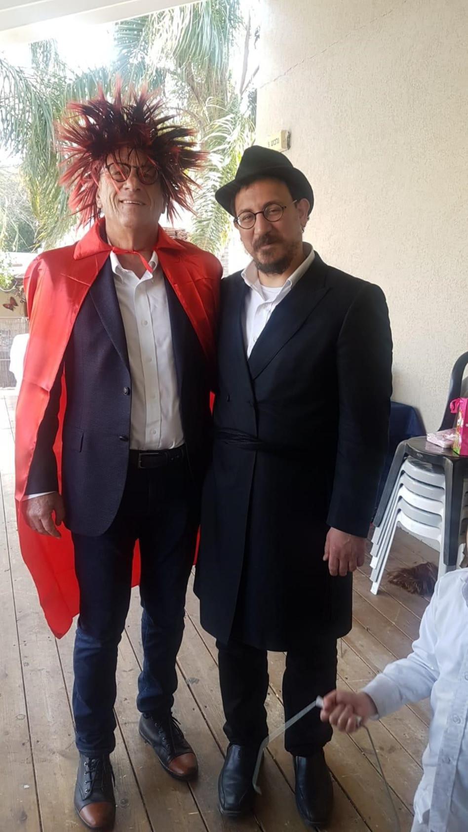 יצחק נוימן ונחום פינברג (צלם: טל שובל)