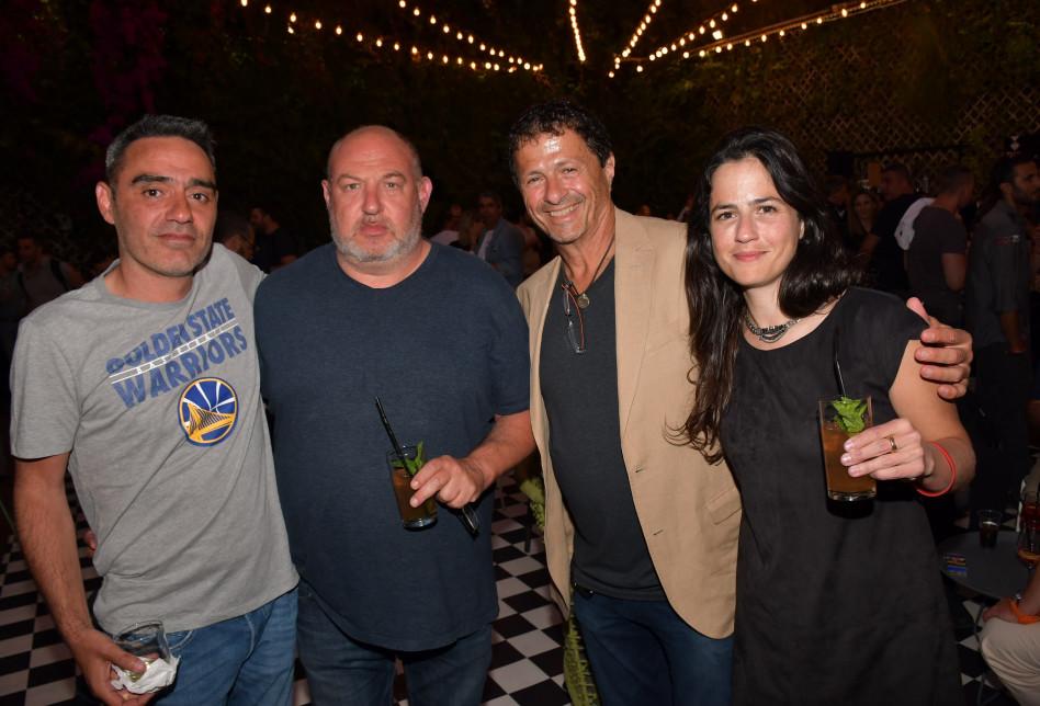 רונה אנג'ל, אודי אנג'ל, הראל ויזל ואבי צבי (צילום: אביב חופי)