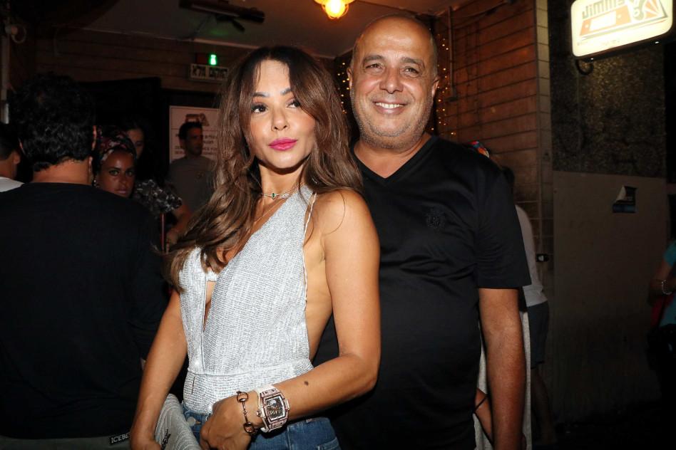 עם בן הזוג עמוס לוזון (צילום: אמיר מאירי)