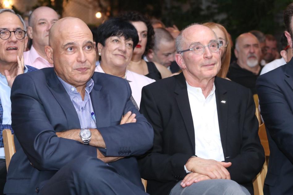 רון רובין ודוד פתאל (צילום: באידבות אונ' חיפה)
