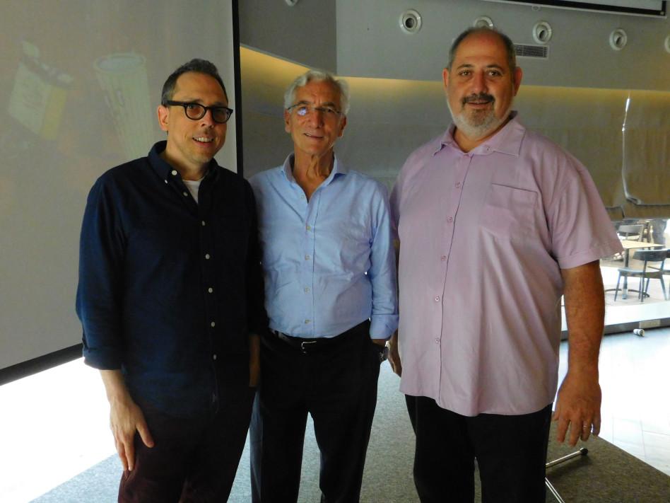 אליאב זכאי, סר רונלד כהן ובעז גאון (צילום: ענת כרמל)