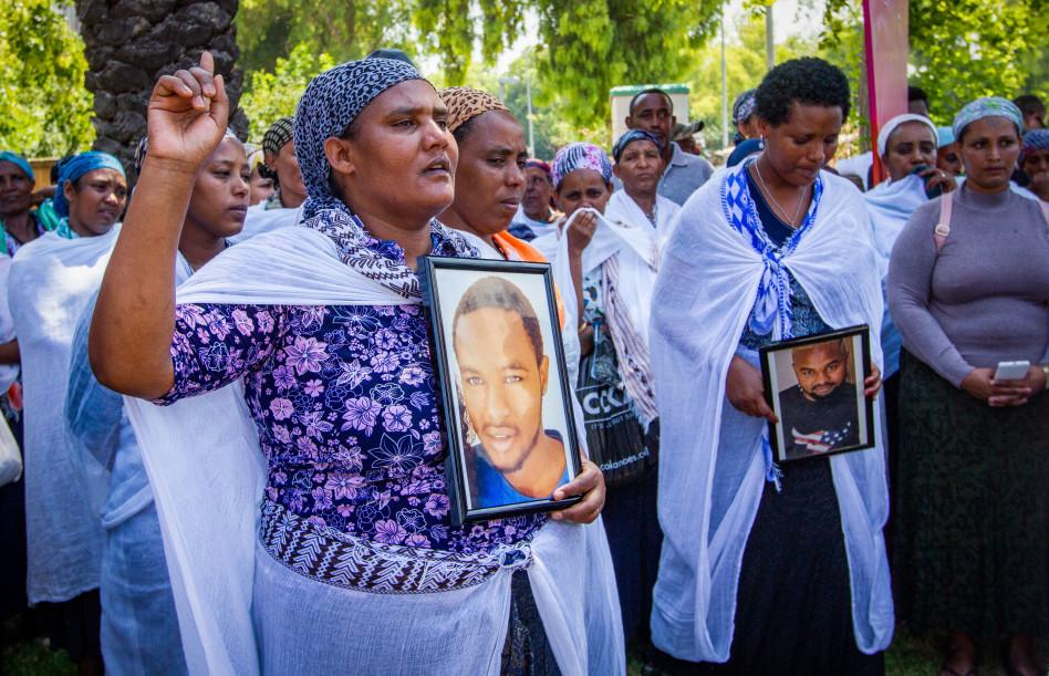 הפגנות בעקבות הרג סלומון טקה (צילום: מאיר ועקנין, פלאש 90)