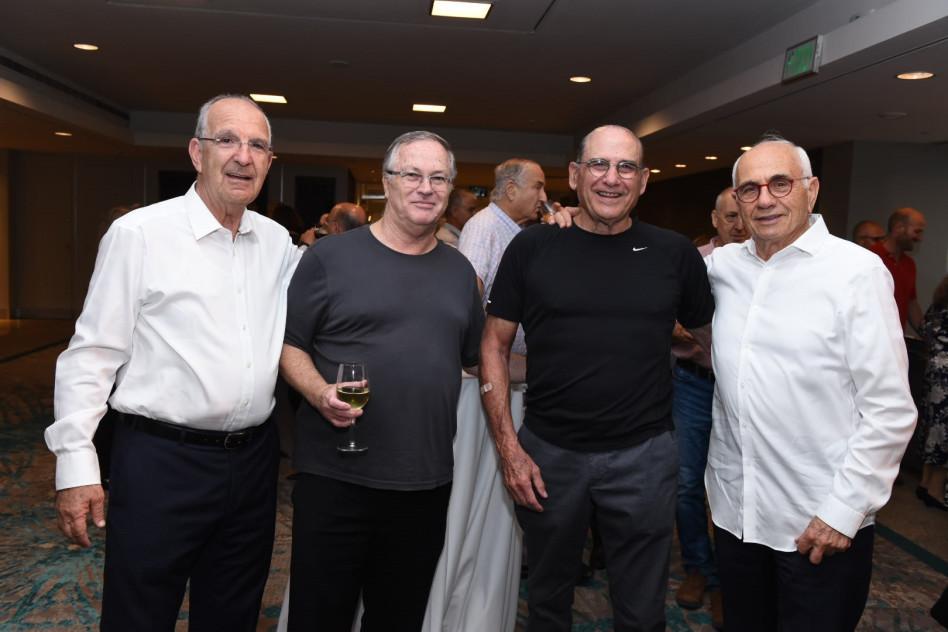 ישראל מקוב, גד זאבי, דודי ויסמן ושמשון הראל (צילום: אוהד הרכס ואיתי בלסון, מכון ויצמן למדע )