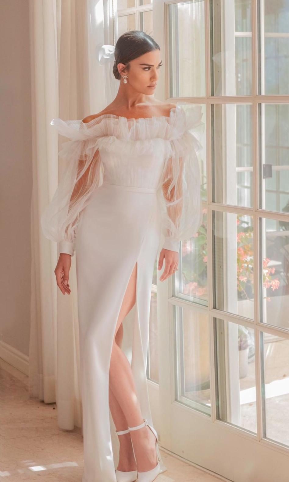 שיר אלמליח ביום חתונתה (צילום: עידן חסון)