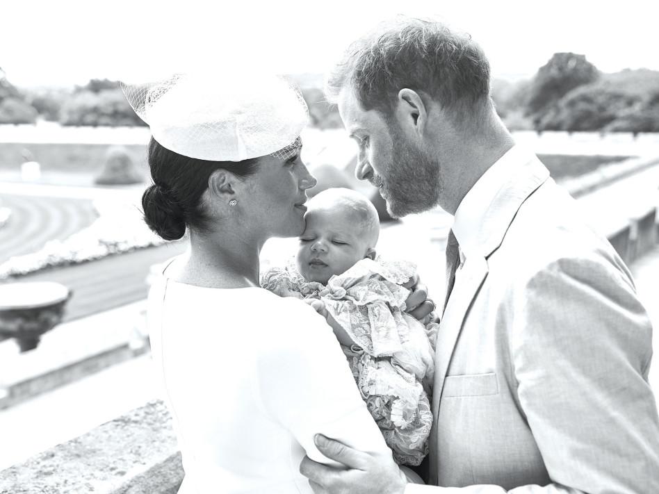 מייגן מרקל, הנסיך הארי ובנם ארצ'י  (צילום: רויטרס)