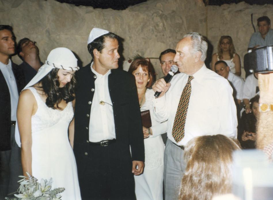 דודו טופז בחתונתו עם רוני חן (צילום: דודו גרינשפן)