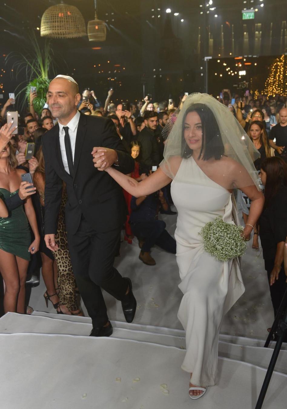 הזוג המלכותי. מאיה בוסקילה ועוזי אזולאי (צילום: תומר ברגיג)
