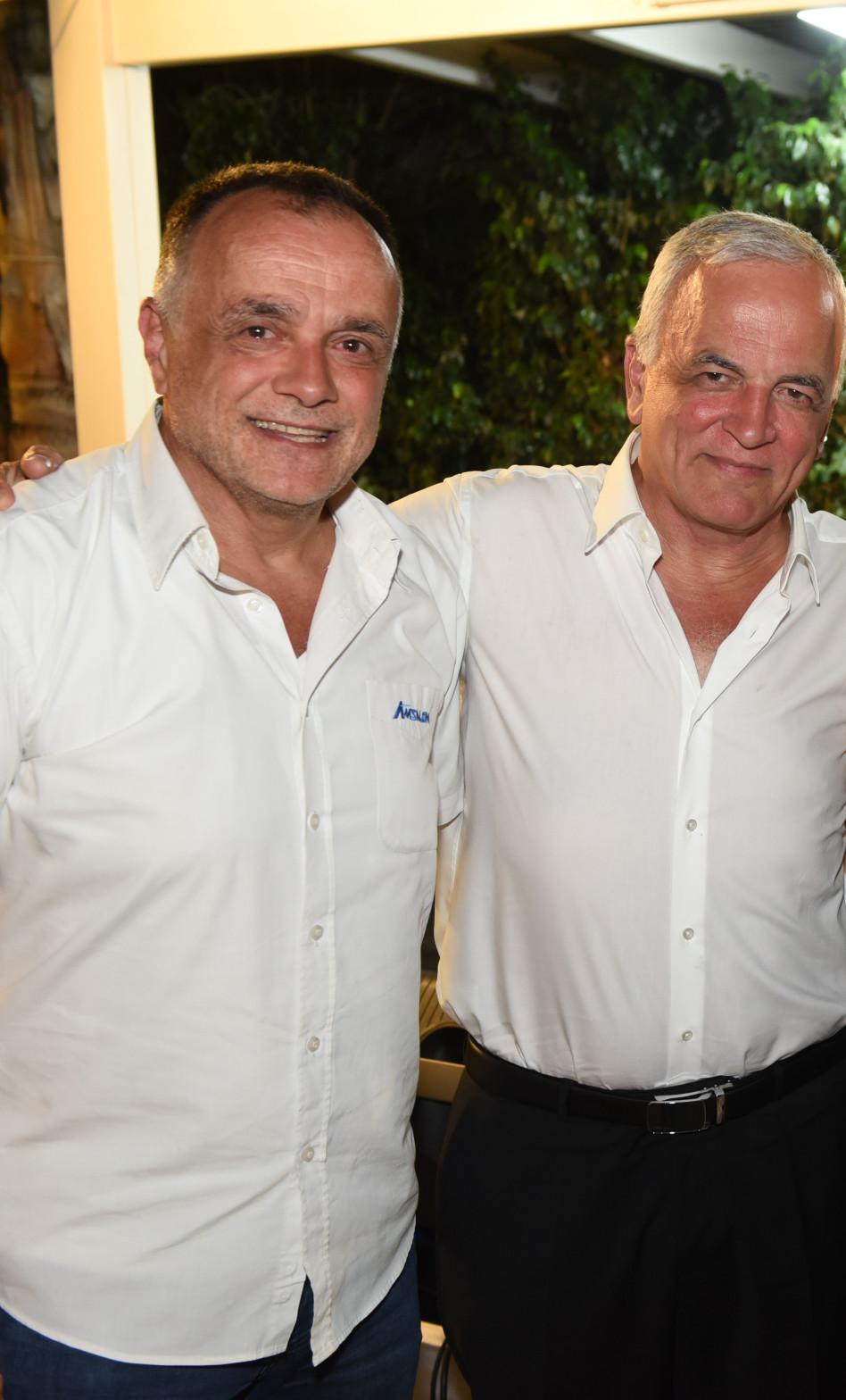 יעקב אמסלם ומשמאל אליעזר אמסלם (צילום: אופיר נחמני)