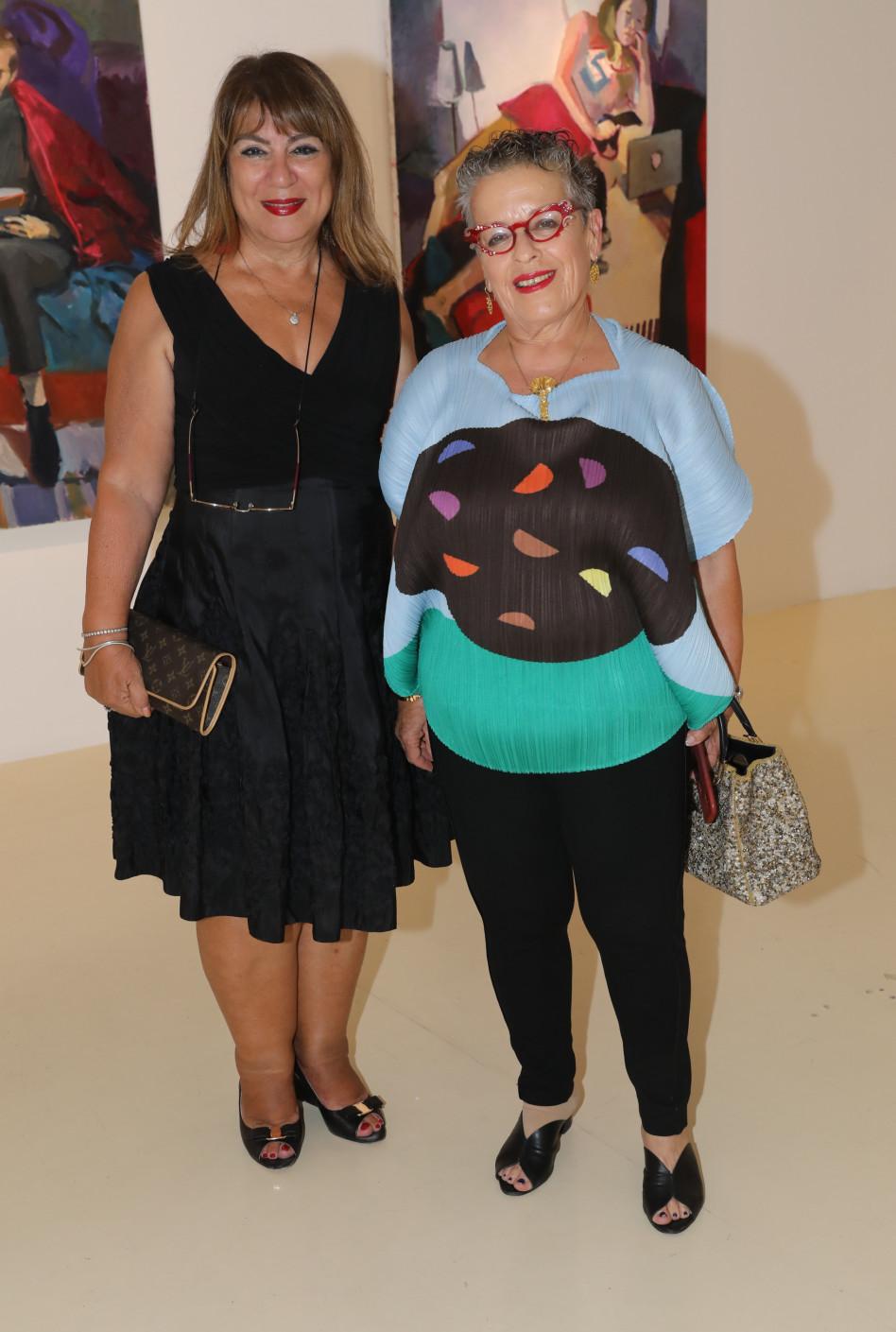 חנה פרי-זן ושולמית נוס (צילום: רפי דלויה)