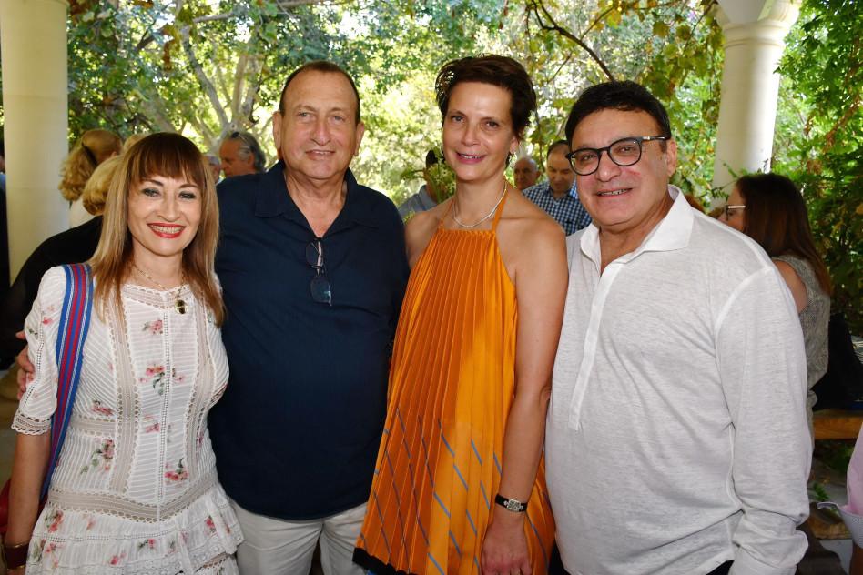 עופר נמרודי, הילה רהב, רון חולדאי וציפי פינס (צילום: אביב חופי)