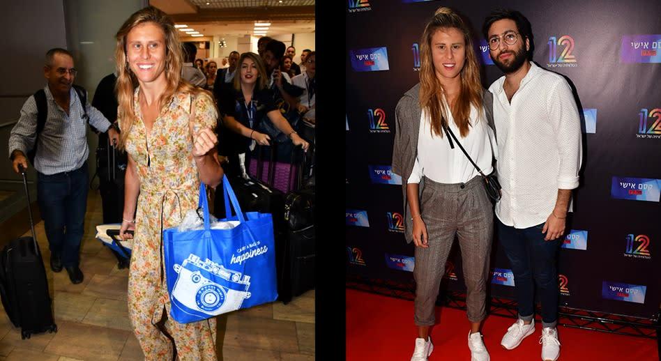 מימין: אלינה לוי אחרי העליה במשקל, משמאל: אלינה לוי רזה מאי פעם (צילום: אביב חופי)י