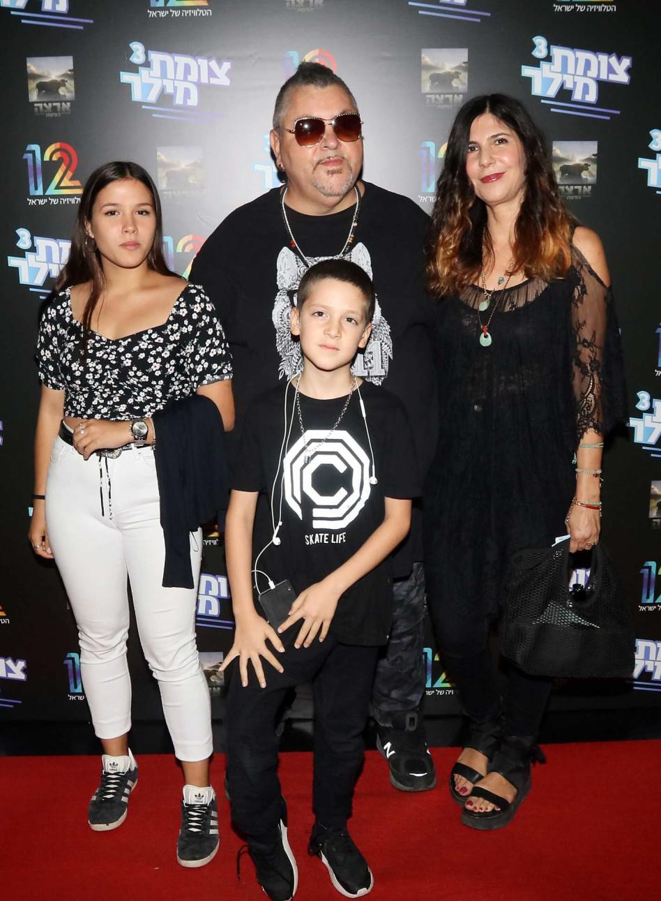 ארקדי דוכין, סימה והילדים (צילום: אמיר מאירי)