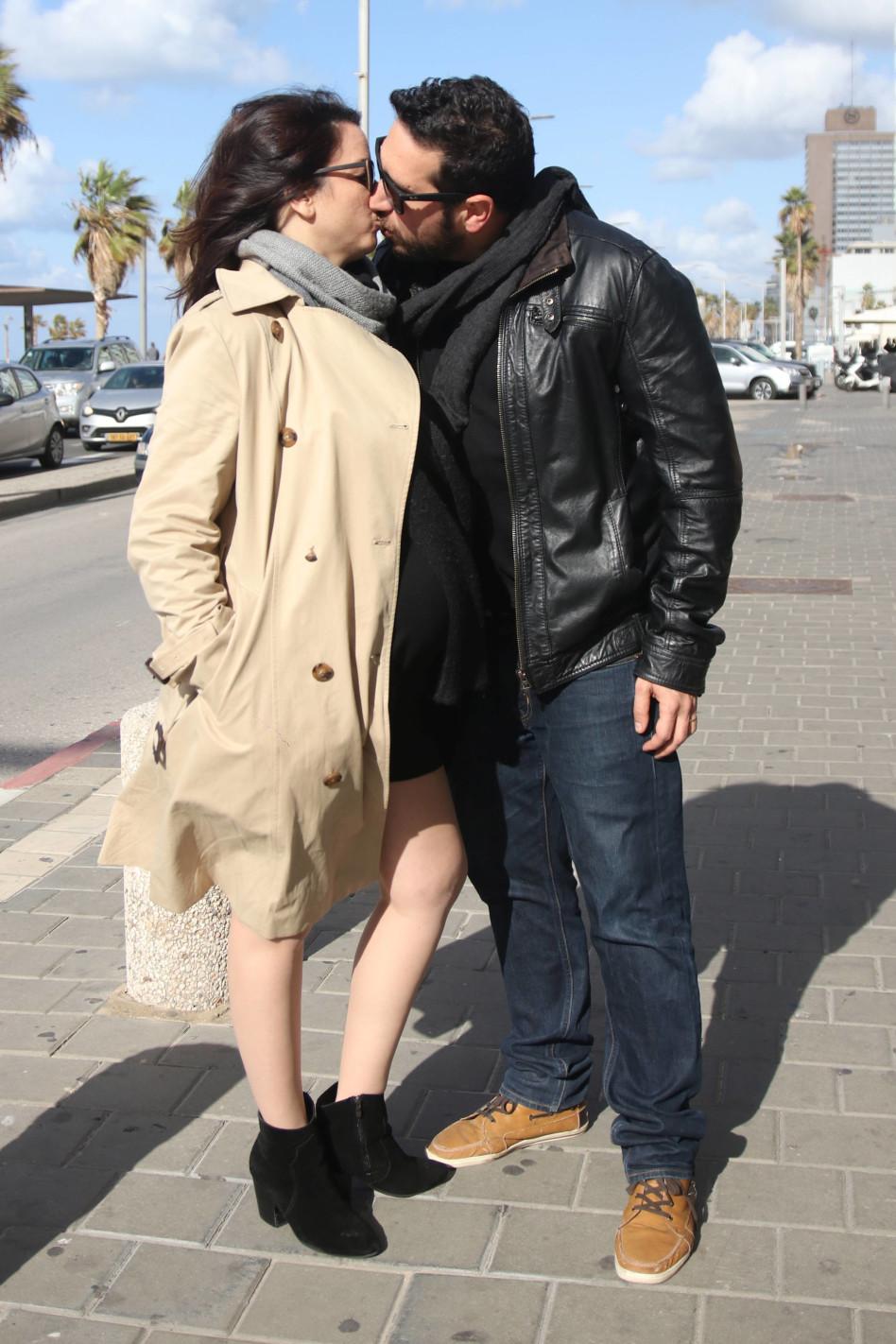 רלי לוי ובעלה אלדד (צילום: אור גפן)
