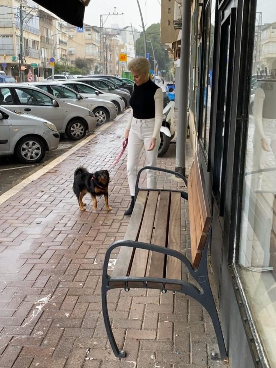 2 ציפורים במכה אחת. גם טיול עם הכלב וגם צבע (צילום: פרטי)