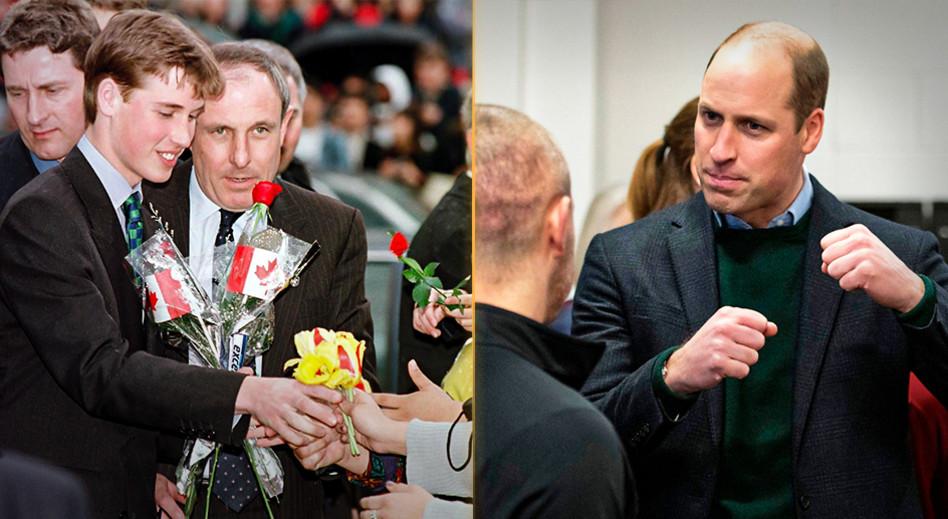 הנסיך וויליאם, לפני ואחרי (צילום: ROWAN GRIFFITHS)
