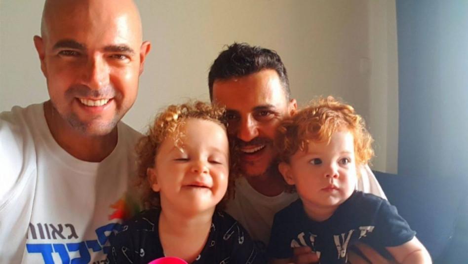אמיר אוחנה ומשפחתו (צילום: צילום מסך מתוך הפייסבוק)