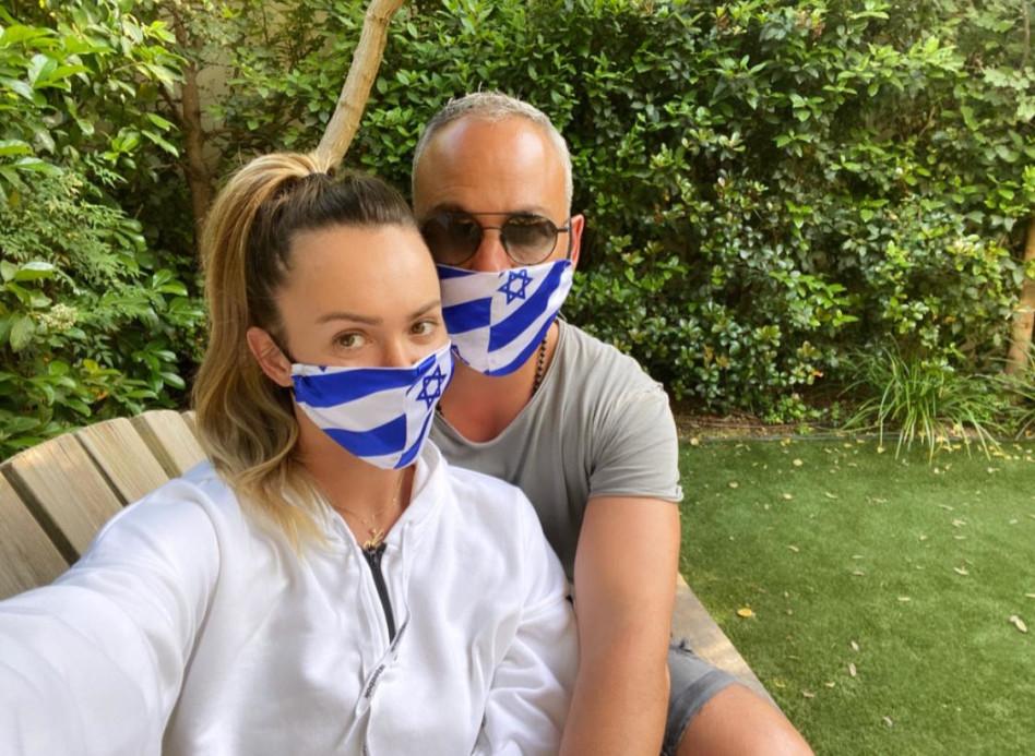 קסניה טרנטול ובן זוגה כרמי עמר (צילום: אור גפן)