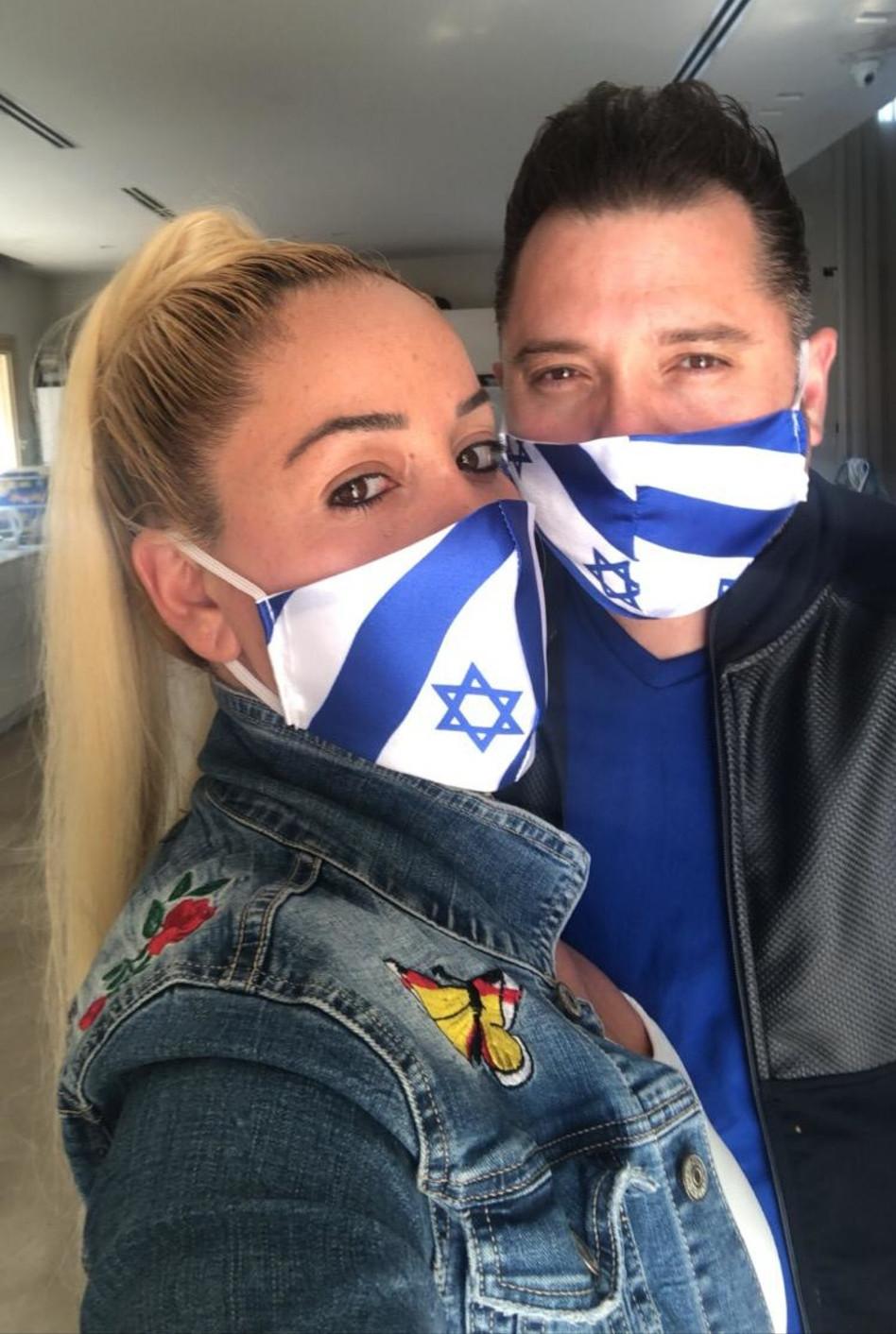 דורין סגול ובעלה ליאור (צילום: אור גפן)