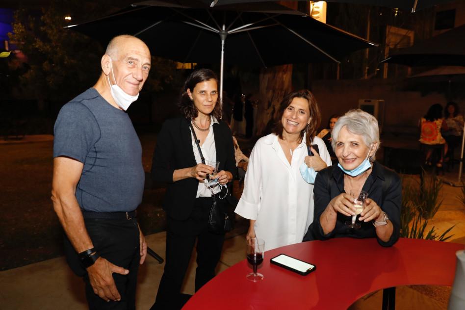 עליזה אולמרט, טניה כהן-עוזיאלי, מיכל הלפמן ואהוד אולמרט (צילום: גיא יחיאלי)