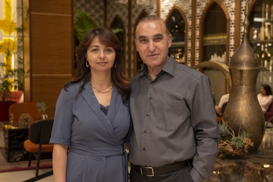 זיאד ודועא עומרי (צילום: גילה שוסטר)