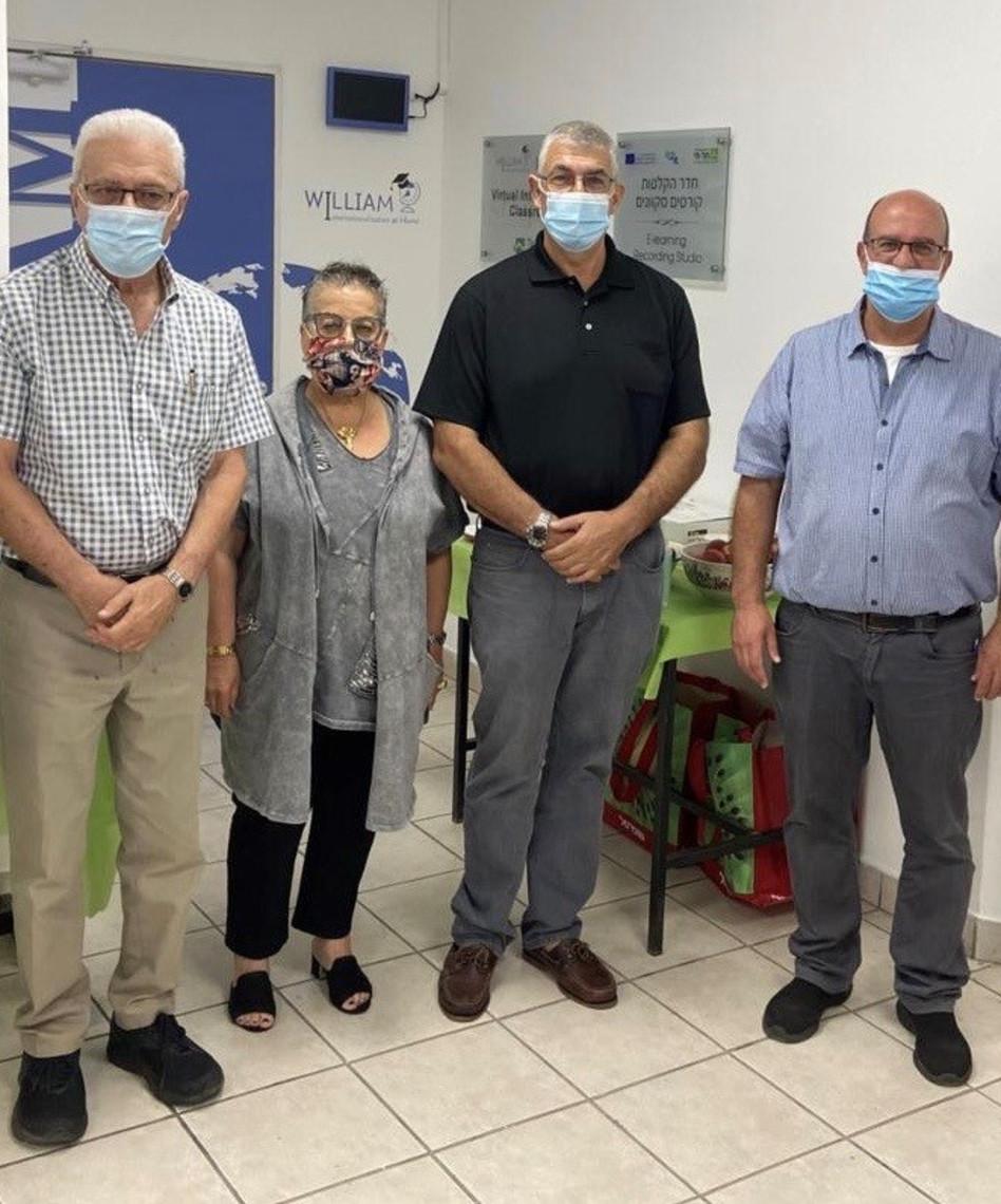 אלי כהן, אריק דיין, חנה פריזן ויוסי מקורי (צילום: סיגל סירואה מכללת תל חי)