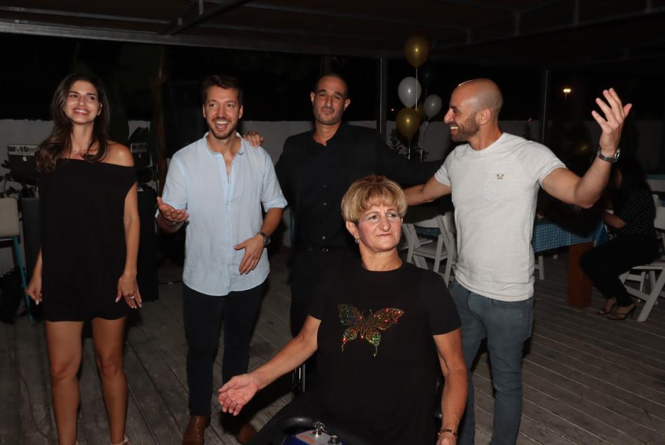 לירן לוי, אלי גוהרי ואמו, דניס רוסקוב, הדר ברייר (צילום: אור גפן)