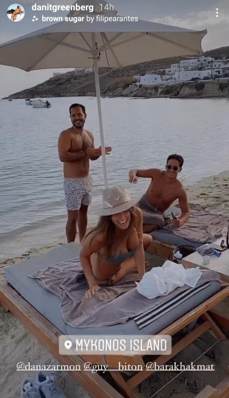 רגע ההכרות. דנה זרמון, גיא ביטון, דנית גרינברג (צילום: צילום מסך אינסטגרם)