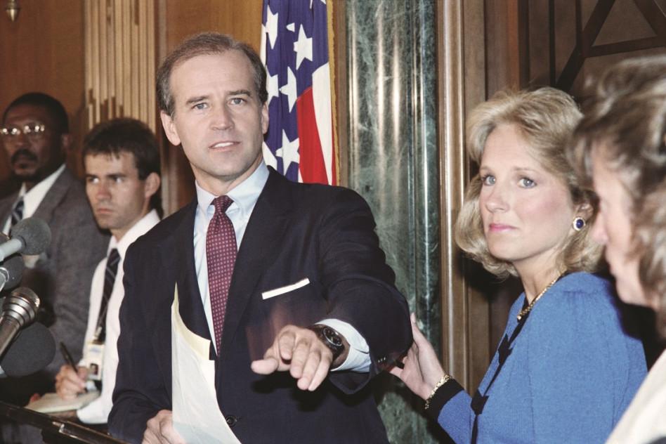 ג'ו ביידן, סנאטור צעיר ונמרץ ב-1987 (צילום: JEROME DELAY/GettyImages)