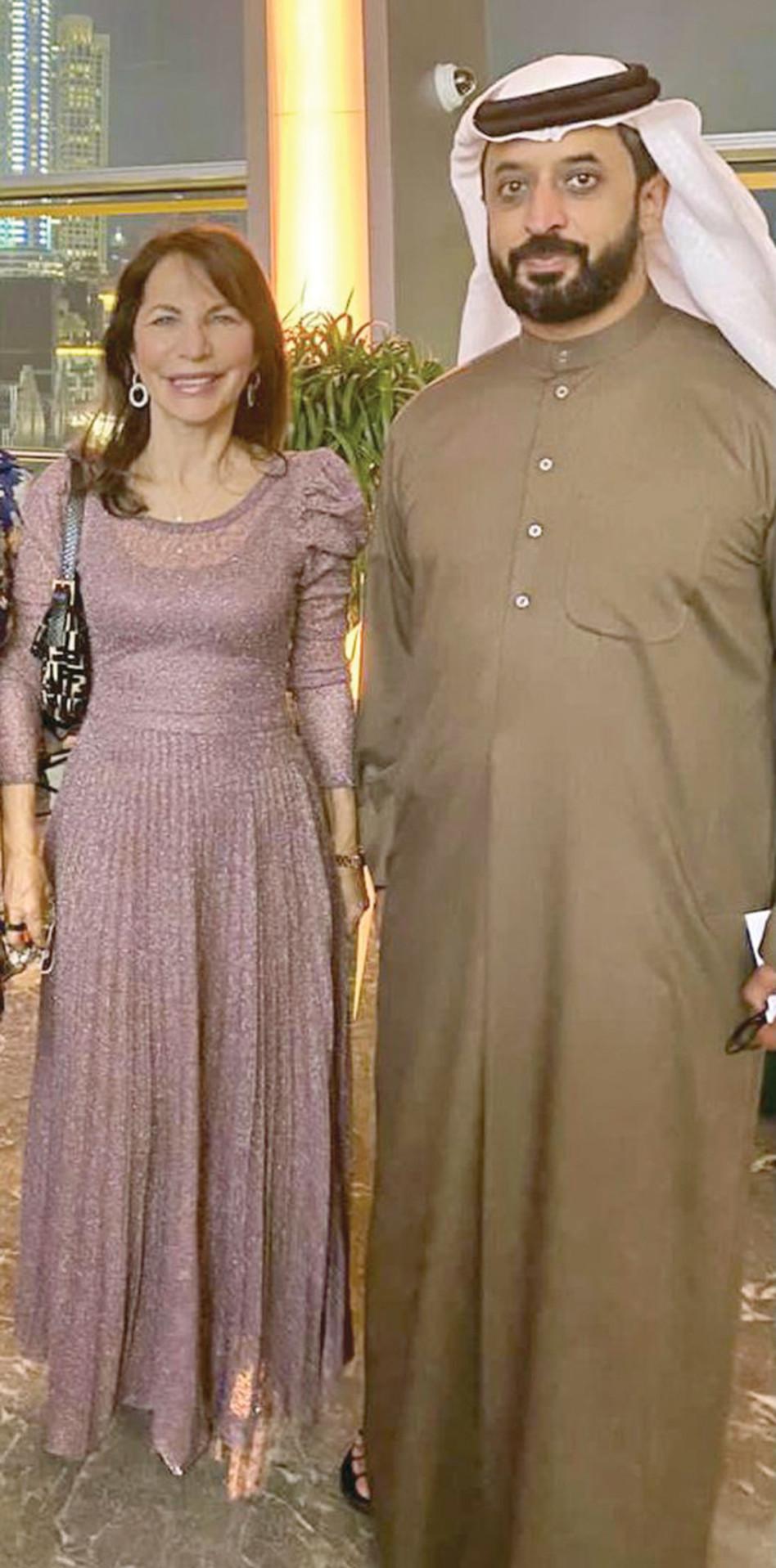אחמד בן סלאיים וברטל בדובאי (צילום: יח''צ)