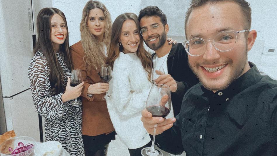 עומר ברזני וחברים (צילום: צילום מסך אינסטגרם)